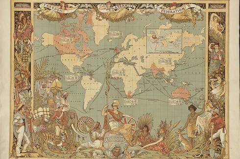 ユニークな世界地図