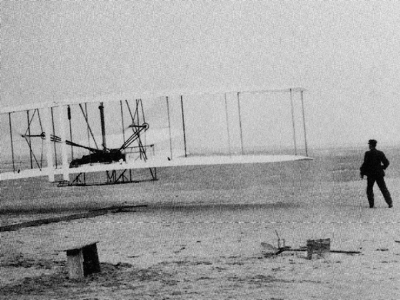 ライト兄弟による人類初飛行