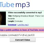 YouTube動画MP3変換サービス継続のための嘆願書に80万人が署名