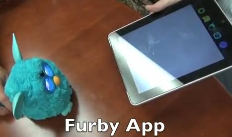ファービーがアプリと連動している様子