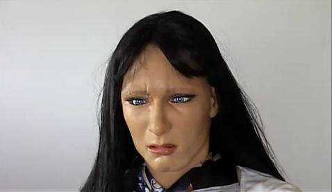 さまざまな表情が可能な最新の顔ロボット