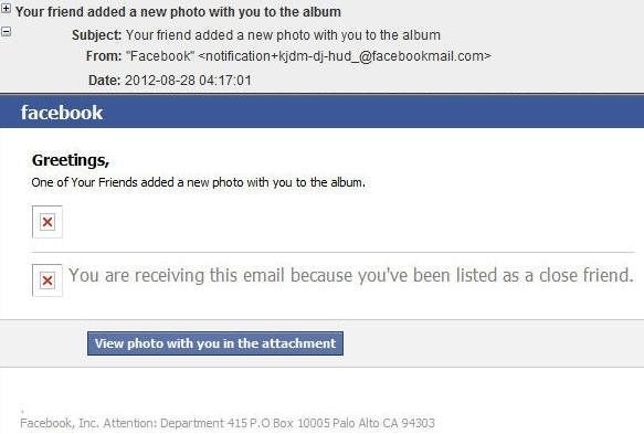 facebookタグ付け通知メールにマルウェアの可能性あり