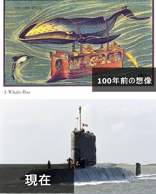 19世紀の人が思う100年後の世界 潜水艦