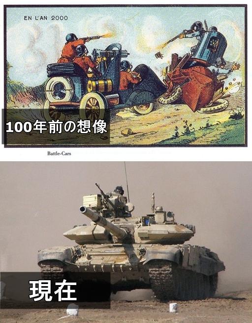 19世紀の人が思う100年後の世界 戦車