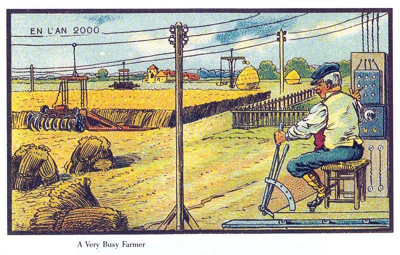 19世紀の人が思う100年後の世界 農家