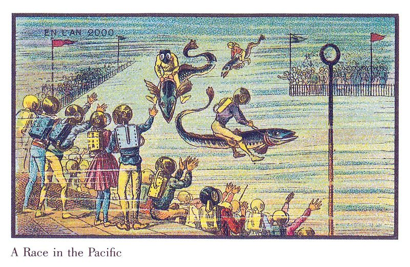 19世紀の人が思う100年後の世界 水中レース