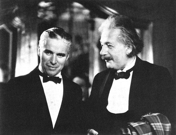 チャーリー・チャップリンとアルベルト・アインシュタイン