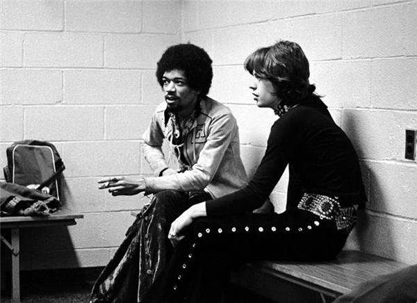 ジミ・ヘンドリックスとミック・ジャガー 1969年