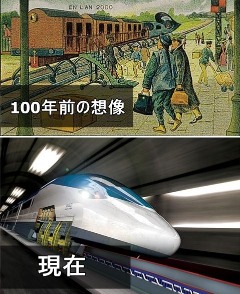 19世紀の人が思う100年後の世界 電車