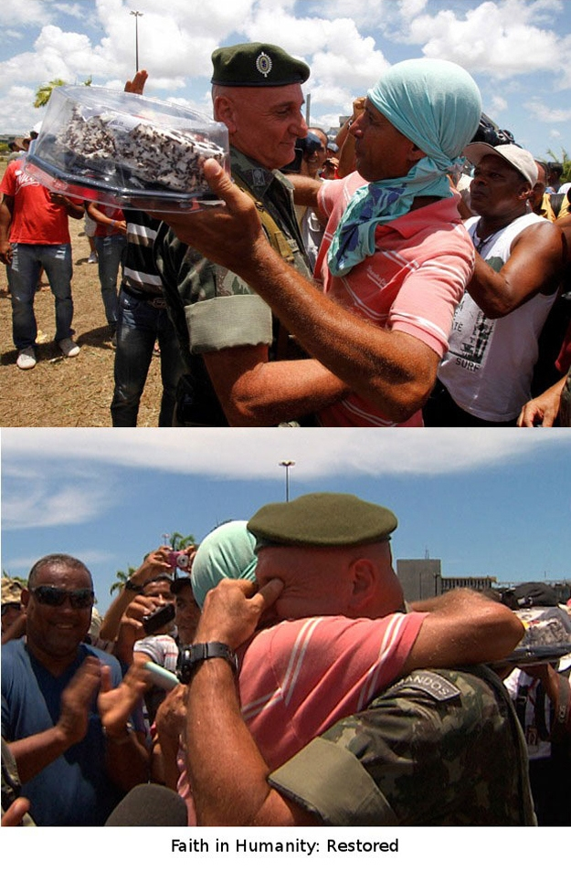 心温まる画像まとめ ブラジルのデモにて