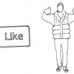 """Facebookで「いいね!」をもらうと""""ハグ""""してくれるジャケット「Like-A-Hug Vest」"""