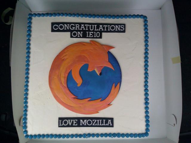 IE10リリース記念のFirefoxケーキ