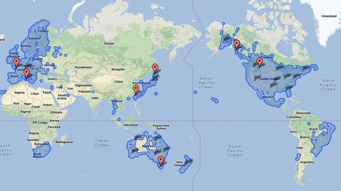 googleストリートビュー 世界地図