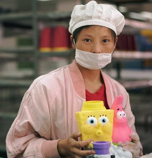 中国のおもちゃ工場