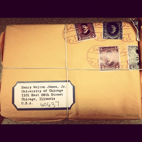 インディアナ・ジョーンズ宛てのパッケージがシカゴ大に届く