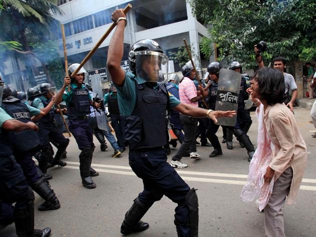 バングラディシュデモ