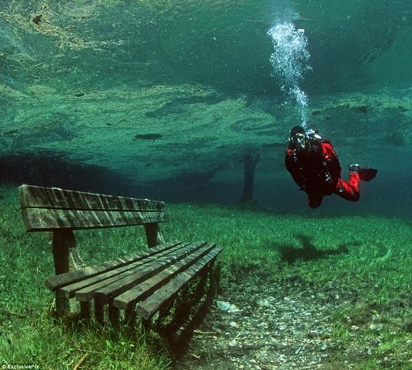 グリーンレイク 水中