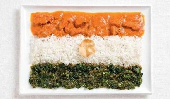 インド国旗 食べ物で