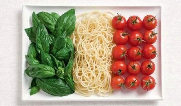 食べ物で作った世界の国旗