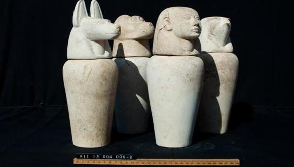 新たに発見されたカノプス壺