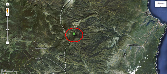 北朝鮮核実験現場地図