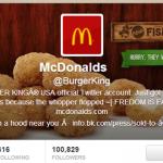 バーガーキングのTwitterアカウントがハックされる、アバターがマクドナルドのロゴに