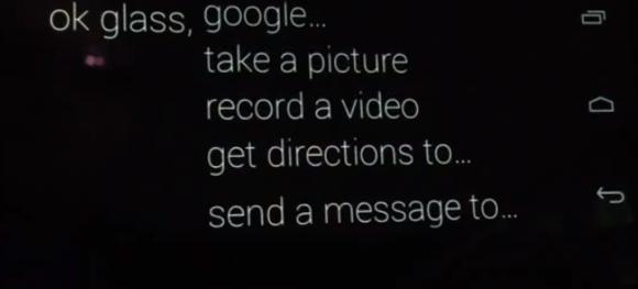 Google Glass 音声コマンド