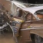 車の安全技術の進歩が伝わってくる動画、50年前のシボレーと今のシボレーを正面衝突させた結果…