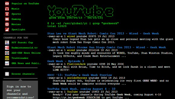 YouTubeレトロ使用
