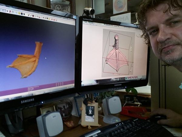 アヒルの義足 3D印刷4