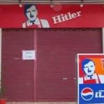 KFCが「ヒトラー・フライドチキン」の看板に激怒、法的処置も検討中