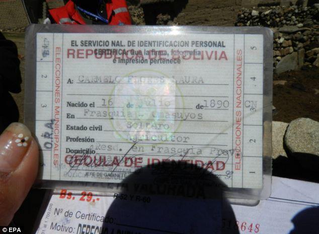 カルメロ・フロレス・ラウラ 123歳 証拠