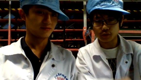 中国の組立工場