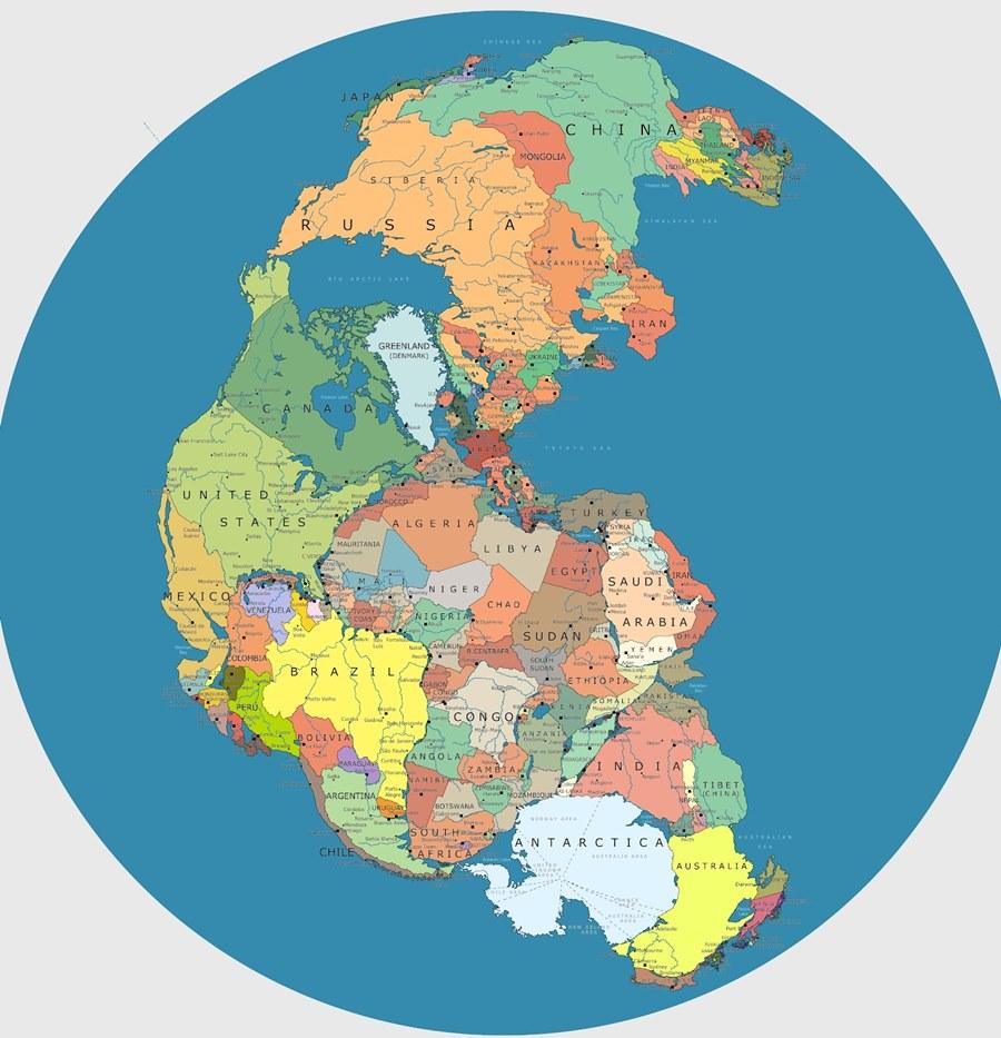 パンゲア大陸 国境