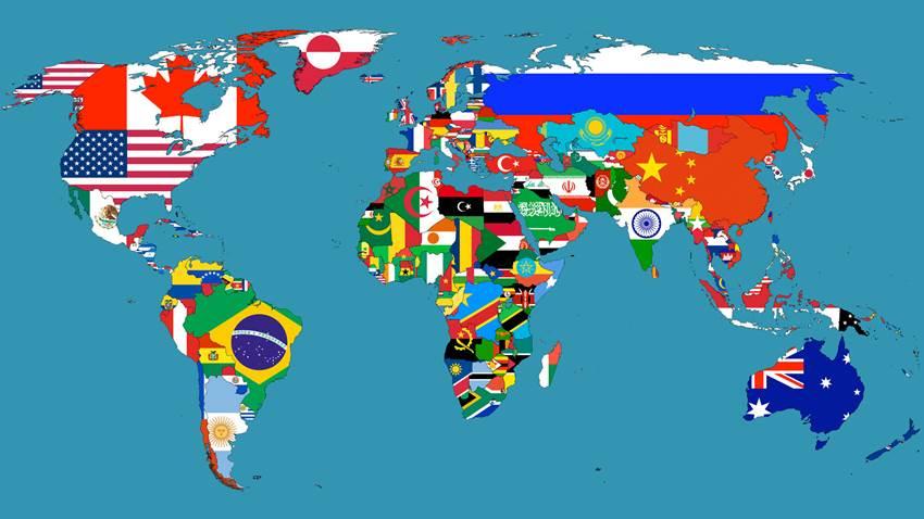 国旗 世界地図