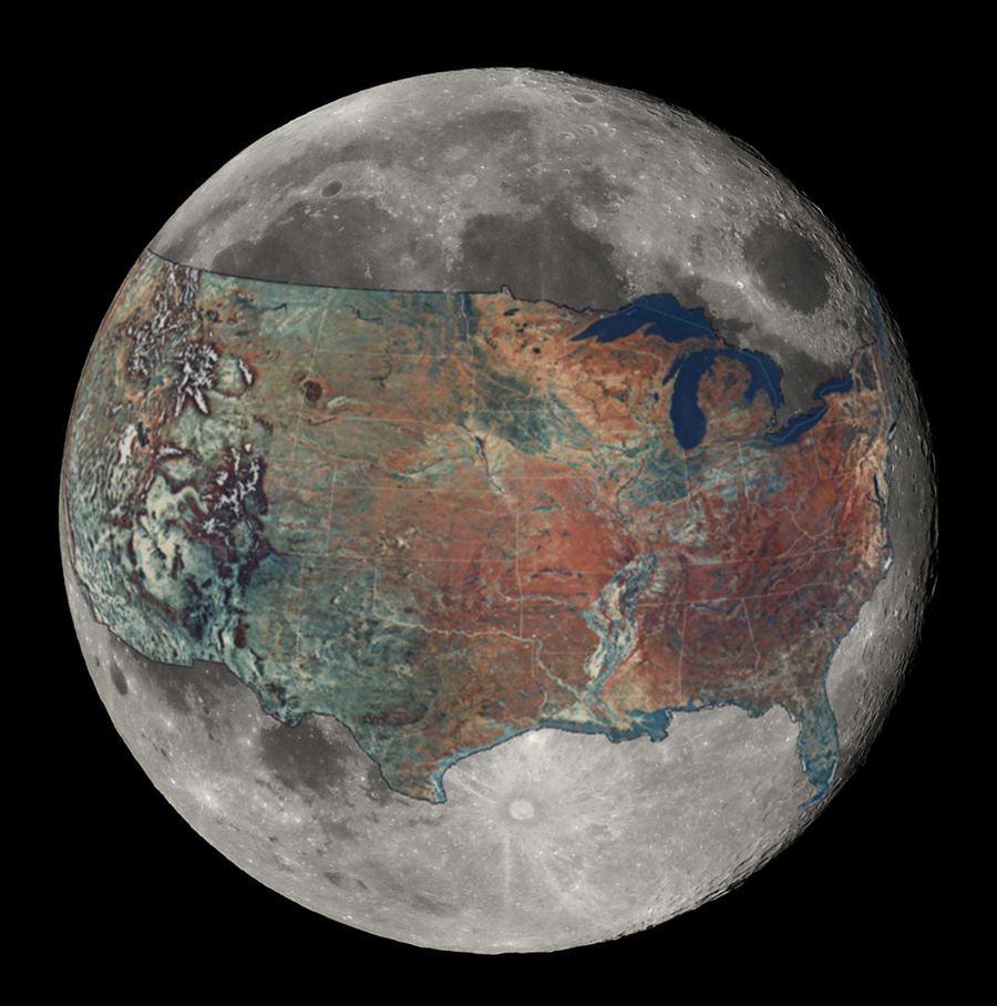 アメリカが月にあったなら