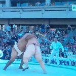 【動画】米国相撲オープンで元世界チャンプが190キロの巨体をボディースラム