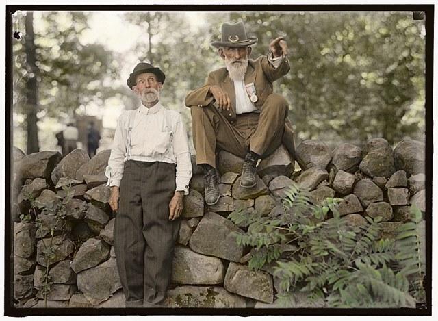 カラー化写真 ゲティスバーグの戦い