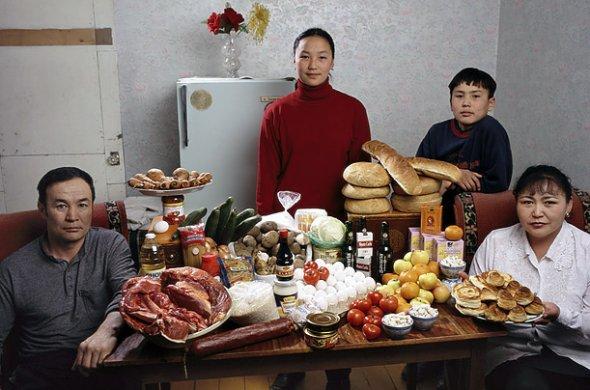 モンゴル 1週間の食料