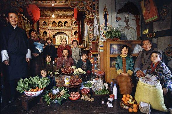 ブータン 1週間の食料