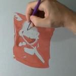 【動画】ポテチの袋を描いた絵が上手すぎて本物と錯覚する