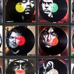 【画像】これはクール!!ミュージシャンの肖像画をレコードにペイントしたアート17枚