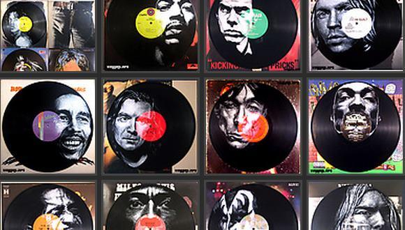レコード 肖像画ペイント