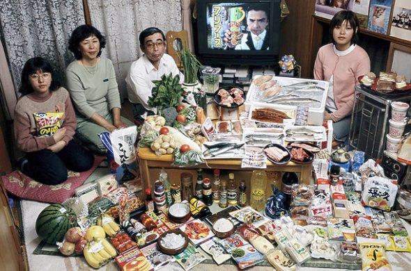 日本 1週間の食料