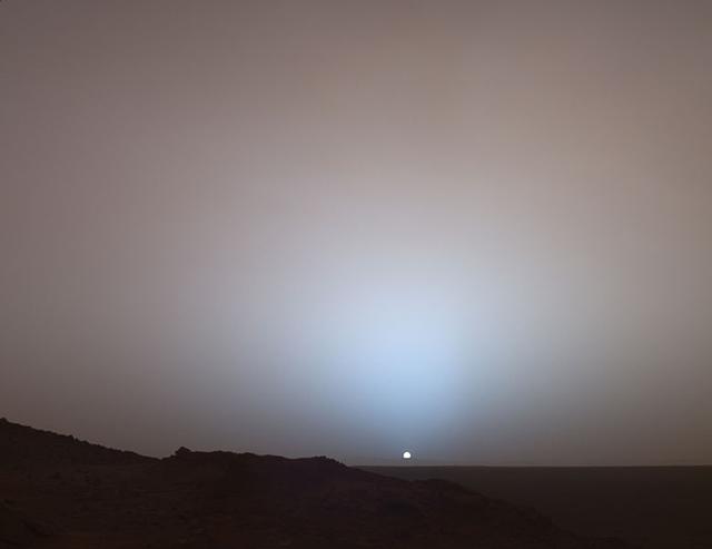 火星のサンセット