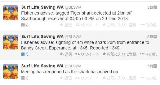 オーストラリア サメ ツイッター1