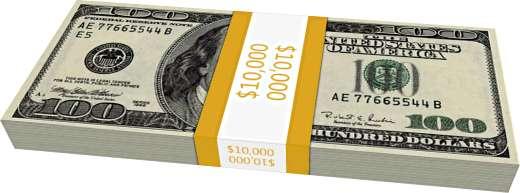 1兆ドルを現金で並べる 1万ドル