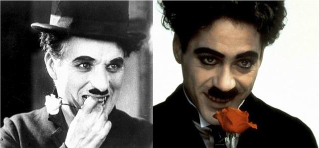 俳優と本人比較 チャップリン