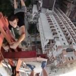 【動画】見ているだけで寿命が縮みそうになる恐怖の高所スタント映像