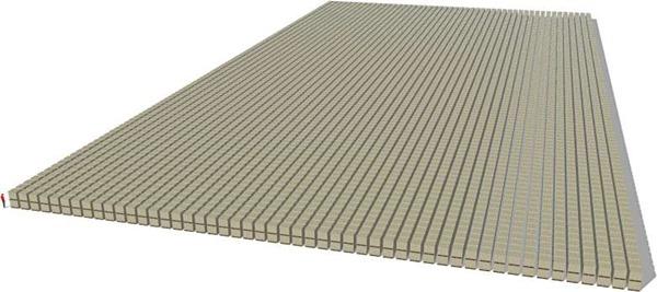 1兆ドルを現金で並べる 1兆ドル